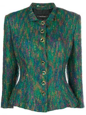 Облегающая куртка Louis Feraud Vintage. Цвет: зеленый