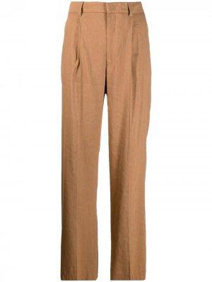 Прямые брюки строгого кроя Pt01. Цвет: коричневый