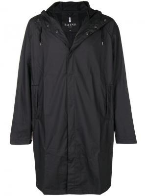 Waterproof hooded coat Rains. Цвет: черный