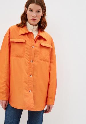 Куртка утепленная Bimba Y Lola. Цвет: оранжевый