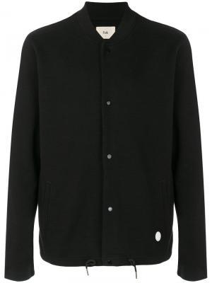 Куртка-бомбер из джерси Folk. Цвет: черный