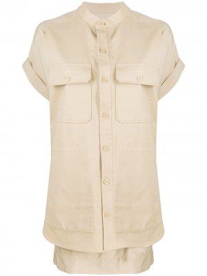 Многослойное платье-рубашка Equipment. Цвет: нейтральные цвета