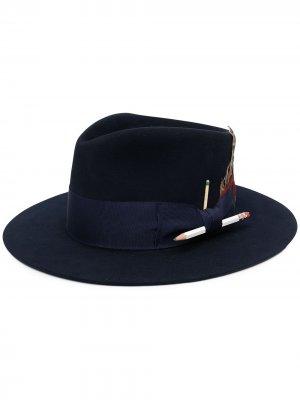 Шляпа-федора Rimbaud Nick Fouquet. Цвет: синий