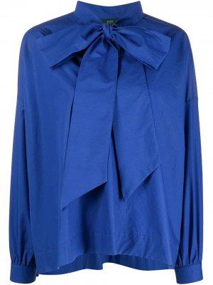 Блузка с бантом Jejia. Цвет: синий