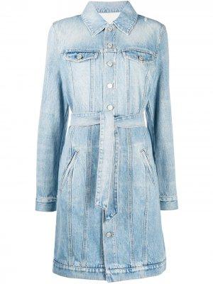 Джинсовое платье с поясом Givenchy. Цвет: синий