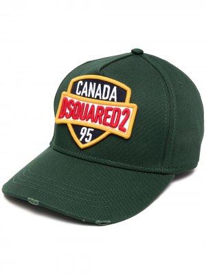 Кепка с нашивкой-логотипом Dsquared2. Цвет: зеленый
