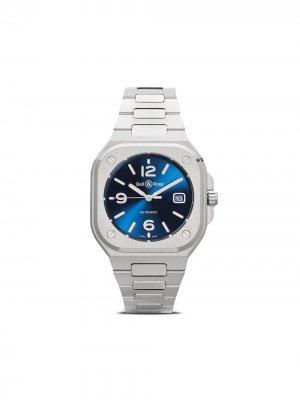 Наручные часы BR 05 Blue Steel 40 мм Bell & Ross. Цвет: голубой and серебристый grey