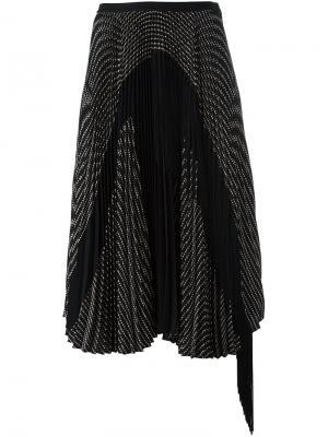 Плиссированная юбка Antonio Marras. Цвет: чёрный