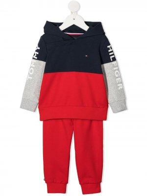 Спортивный костюм с логотипом Tommy Hilfiger Junior. Цвет: красный