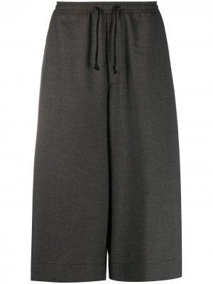 Укороченные брюки широкого кроя Société Anonyme. Цвет: серый