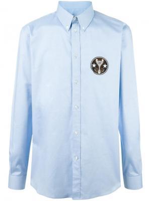 Рубашка с нашивкой Givenchy. Цвет: синий