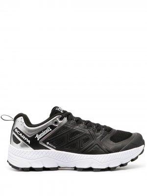 Кроссовки на шнуровке Herno. Цвет: черный