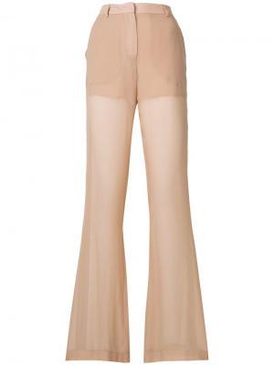 Широкие брюки с полосками Vionnet. Цвет: нейтральные цвета