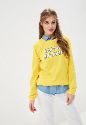 Свитшот Compania Fantastica. Цвет: желтый