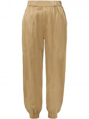 Зауженные брюки Neha Nicholas. Цвет: нейтральные цвета