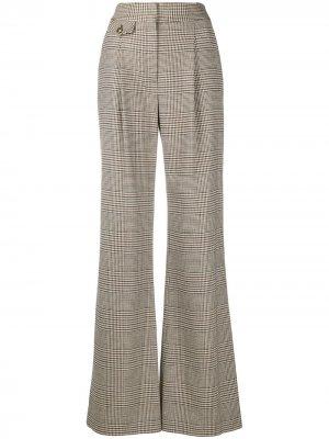 Расклешенные брюки с узором в елочку Veronica Beard. Цвет: черный