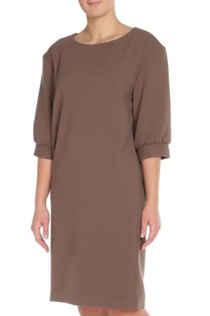 Платье Cyrille Gassiline. Цвет: коричневый
