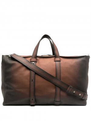 Большая дорожная сумка с эффектом потертости Orciani. Цвет: коричневый