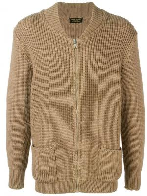Кардиган крупной вязки 1970-ых Pierre Cardin Pre-Owned. Цвет: коричневый
