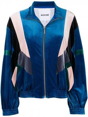 Куртка в стиле колор-блок Koché. Цвет: синий