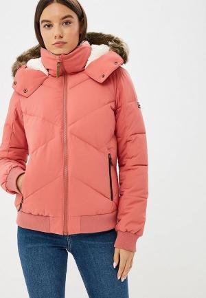 Куртка утепленная Roxy. Цвет: розовый