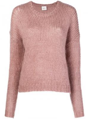 Fuzzy sweater Alysi. Цвет: розовый