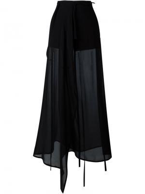Широкие прозрачные брюки Ann Demeulemeester. Цвет: чёрный