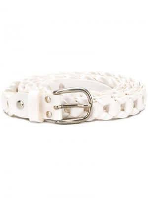 Woven buckle belt Marios. Цвет: белый