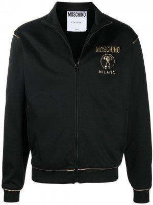 Спортивная толстовка с логотипом Moschino. Цвет: черный