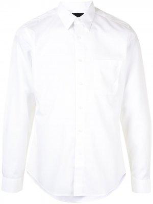 Durban поплиновая рубашка с длинными рукавами и карманом D'urban. Цвет: белый