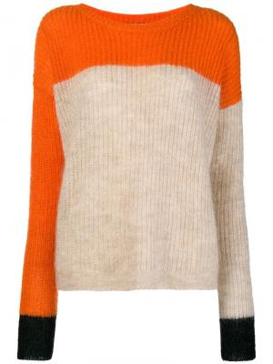 Colour block jumper Mauro Grifoni. Цвет: желтый
