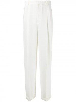 Прямые брюки с завышенной талией Polo Ralph Lauren. Цвет: белый