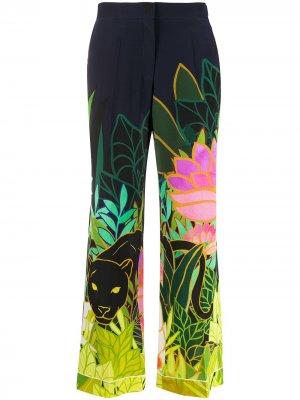 Пижамные брюки Panther in the Jungle Valentino. Цвет: синий