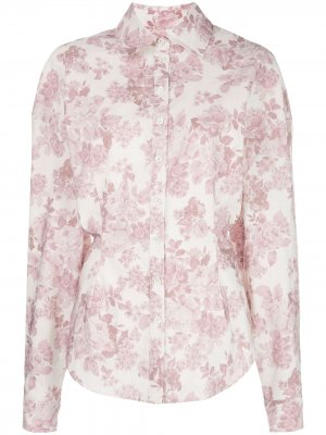 Рубашка Lozanna с цветочным принтом Magda Butrym. Цвет: фиолетовый