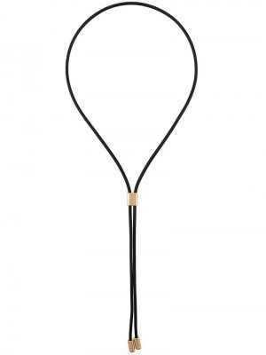 Колье-шнурок AMBUSH. Цвет: черный