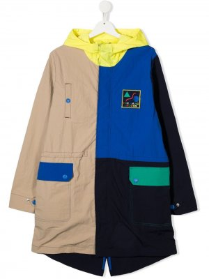 Пальто в стиле колор-блок The Marc Jacobs Kids. Цвет: синий