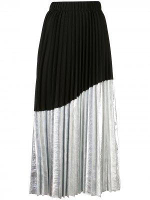 Плиссированная юбка асимметричного кроя Nude. Цвет: черный
