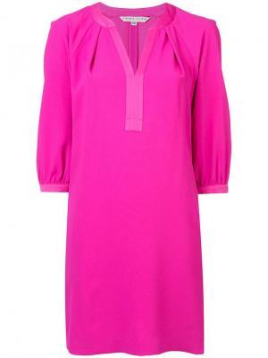 Платье мини с отделкой в тон Trina Turk. Цвет: розовый