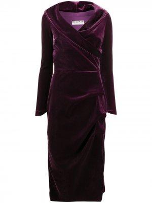 Платье миди с запахом Le Petite Robe Di Chiara Boni. Цвет: фиолетовый