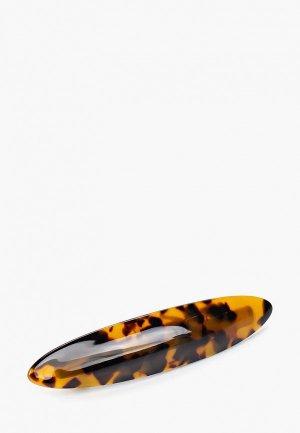 Заколка Pieces. Цвет: коричневый