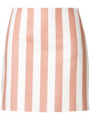 Полосатая юбка по фигуре Drome. Цвет: розовый