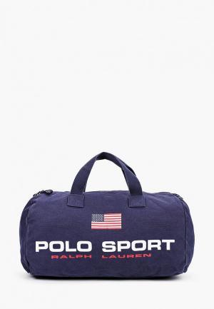 Сумка дорожная Polo Ralph Lauren. Цвет: синий