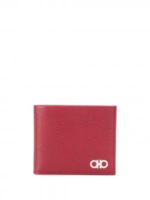 Бумажник с пряжкой Gancini Salvatore Ferragamo. Цвет: красный
