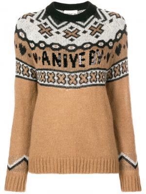 Трикотажный свитер с логотипом Aniye By. Цвет: нейтральные цвета