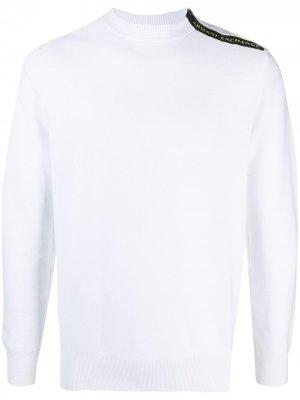 Пуловер с логотипом Armani Exchange. Цвет: белый