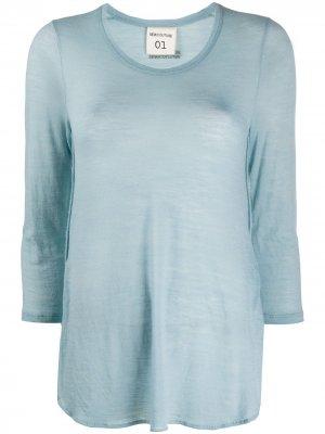 Полупрозрачная футболка Semicouture. Цвет: синий