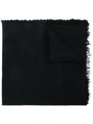 Frayed oversized scarf Ann Demeulemeester. Цвет: черный
