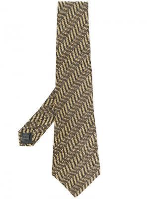 Галстук с геометрическим принтом Jean Paul Gaultier Pre-Owned. Цвет: нейтральные цвета