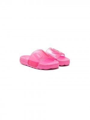 Шлепанцы с логотипом Dkny Kids. Цвет: розовый