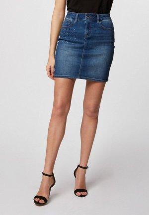Юбка джинсовая Morgan. Цвет: синий